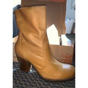 Latigo leather boots